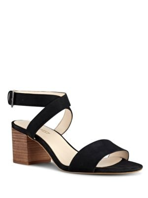 Buy Gondola Block Heel Leather Sandals by Nine West online