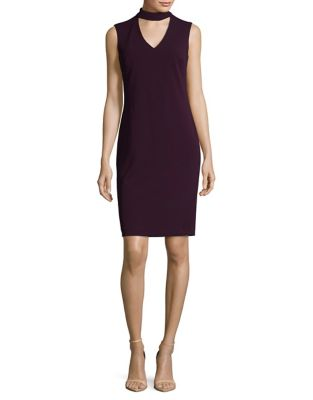 Crepe Choker Dress by Calvin Klein