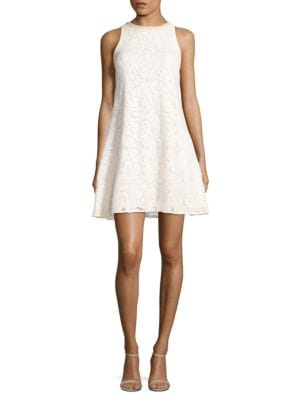 Nava Beaded Neckline Dress by Belle Badgley Mischka