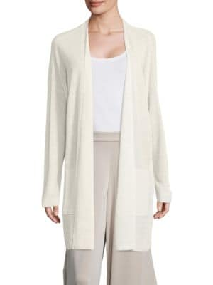 Crepe Long Cardigan by Eileen Fisher Plus