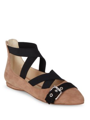 Leather Blend Almond Toe Flats by Nine West