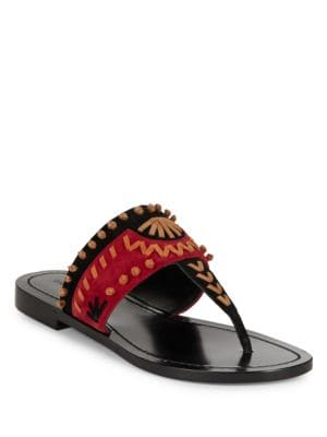 Aliyah Suede Thong Sandals by Sigerson Morrison