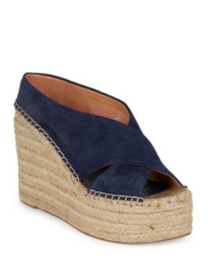 Atifa Suede Espadrille Platform Sandals by Sigerson Morrison