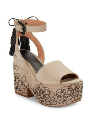 Beia Suede Platform Sandals by Sigerson Morrison