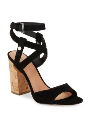 Paulina2 Block Heel Suede Sandals by Sigerson Morrison
