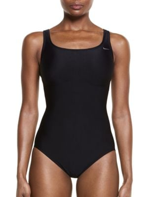 One-Piece Mid Trainer Tank Swimsuit by Nike