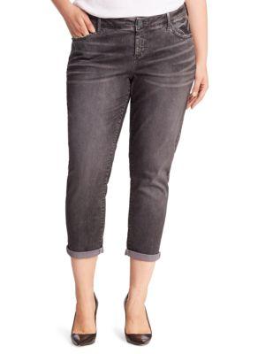 Plus Rolled Boyfriend Jeans 500086857454
