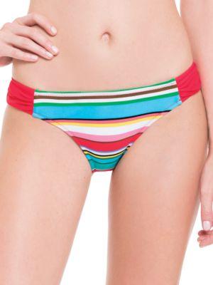 Candy Cane Side Tab Bikini Bottom by Blush By Gottex