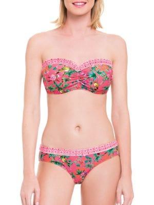 Japanika Bandeau D, E, F Bikini Top by Blush By Gottex