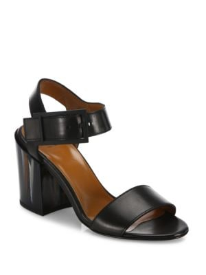 Fredia Leather Block Heel Sandals by Aquatalia