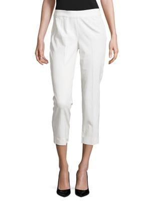 Cropped Cotton-Blend Pants by IMNYC Isaac Mizrahi