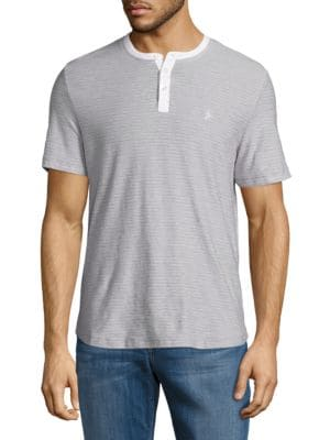 Heathered Striped Henley by Original Penguin