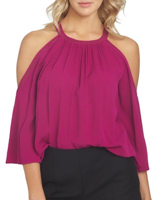 Embroidered Cold-Shoulder Top by 1.STATE