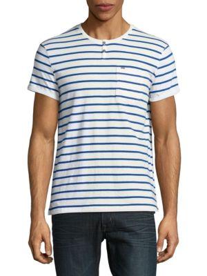 Striped Pocket Henley by Calvin Klein Jeans