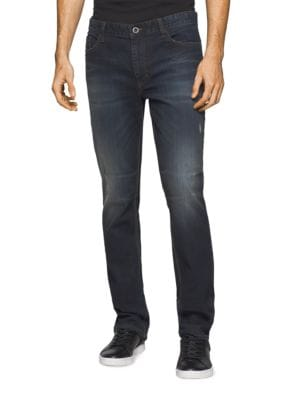 Straight-Fit Cotton-Blend Jeans by Calvin Klein Jeans