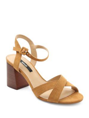 Exalia Crisscross Block Heel Sandals by Kensie