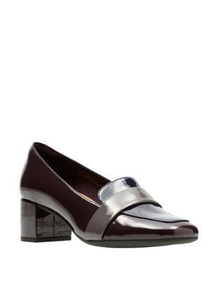 Tealia Patent Leather Loafers by Clarks