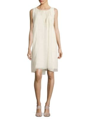 Embroidered Chiffon Popover Dress by Nic+Zoe