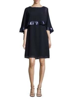 Capelet Overlay Dress by Vince Camuto