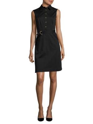 Belted Sleeveless Dress by Ellen Tracy