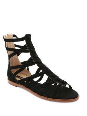 Macklin Suede Gladiator Sandals by Kensie
