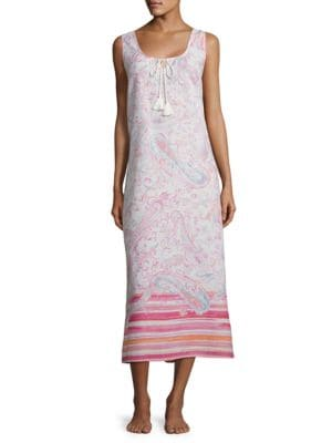 Mixed Print Sleep Dress by Lauren Ralph Lauren