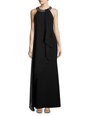 Solid Sleeveless Embellished Dress by Vince Camuto