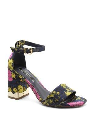 Sahar Textile Block Heel Sandal by Kensie