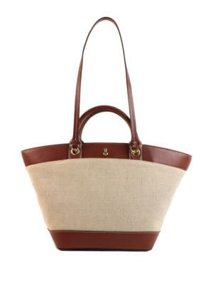 Poole Vegan Leather and Linen Tote 500086869783