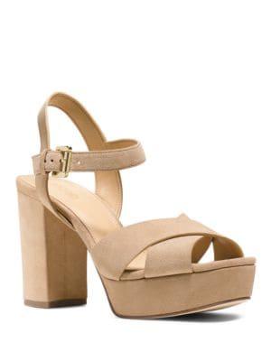 Divia Suede Platform Sandals by MICHAEL MICHAEL KORS