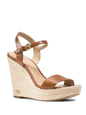 Jill Espadrille Wedge Leather Sandals by MICHAEL MICHAEL KORS