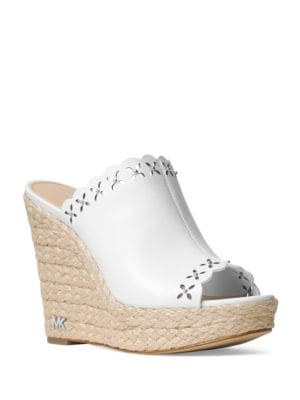 Leather Espadrille Wedges by MICHAEL MICHAEL KORS