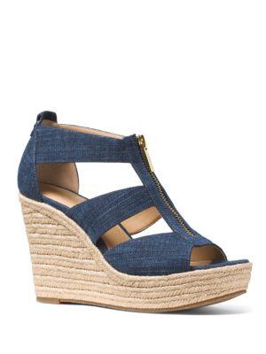 Damita Denim Espadrille Wedge Sandals by MICHAEL MICHAEL KORS