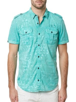 Silaky Short Sleeve Shirt by BUFFALO David Bitton