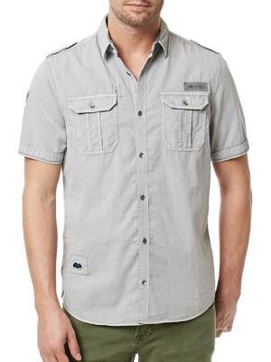 Sijules Short Sleeve Shirt by BUFFALO David Bitton