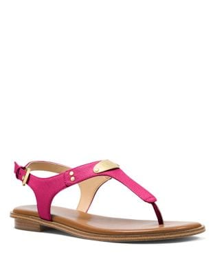 Saffiano Leather Sandals by MICHAEL MICHAEL KORS