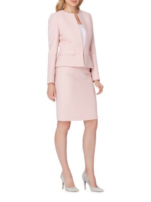 Classic-Fit Solid Striped Skirt Suit by Tahari Arthur S. Levine