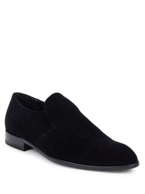 Almond-Toe Textured Loafers by HUGO BOSS