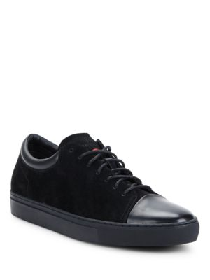 Cap Toe Lace-Up Sneakers by HUGO BOSS