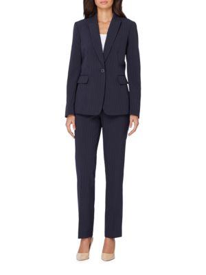 Classic-Fit Pinstripe Suit by Tahari Arthur S. Levine