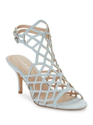 Nadya Laser Cut Cage Sandal by Charles by Charles David