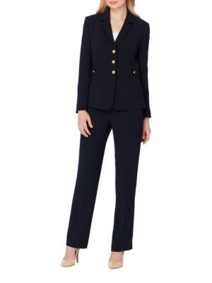 Long-Sleeve Solid Suit by Tahari Arthur S. Levine
