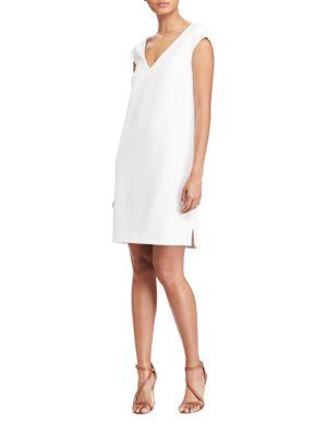 Crepe V-Neck Shift Dress by Polo Ralph Lauren
