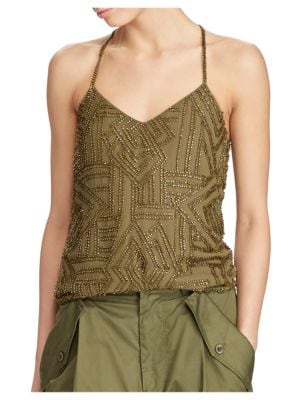 Beaded Y-Back Tank Top by Polo Ralph Lauren