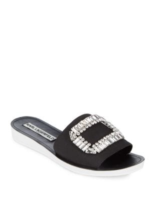 Mirah Embellished Slip-on Sandals by Karl Lagerfeld Paris