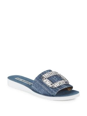 Buy Mirah Embellished Slip-on Sandals by Karl Lagerfeld Paris online