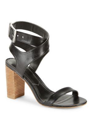 Eddie Block Heel Leather Sandals by Charles by Charles David