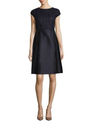 Hillany Mixed Media A-Line Dress by Lafayette 148 New York