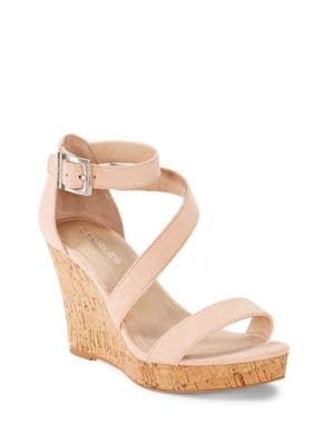 Leanna Strappy Platform Wedge Sandal by Charles by Charles David