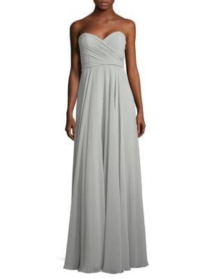 Adeline Strapless Chiffon Gown by Jenny Yoo